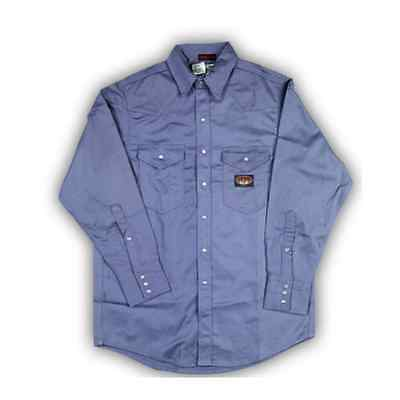 Rasco FR Work  Blue Work  Shirt  Lightweight  NWT