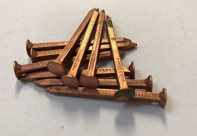 10 x 40mm Copper Square Shaft Nails Timber Boats/ Tree Stump Killer Aust Made
