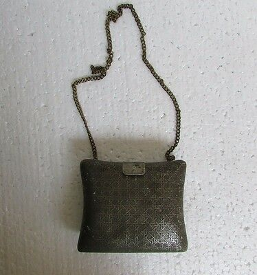 Vintage Collectible Handcrafted Engraved Unique shape Metal Purse