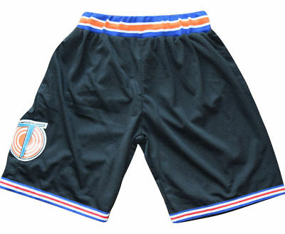 d0cd8f0ec7f310 SPACE JAM TUNE Squad Movie Basketball Jersey Shorts Black Stitched S ...