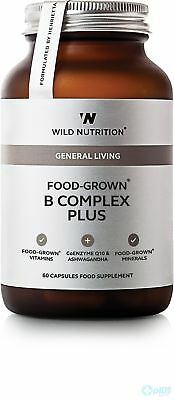 Wild Nutrition Général Living food-grown Complexe B Plus 60 gélules