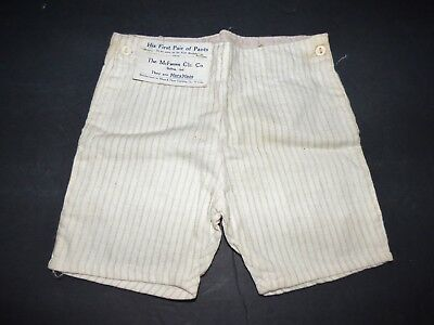 Antique Marxmade Boy's First Pair of Pants McFarren Clothing Co., Bluffton, IN