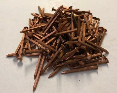 100 x 25mm Copper Square Shaft Nails Marine/ Restoration / Hobby Aust Made