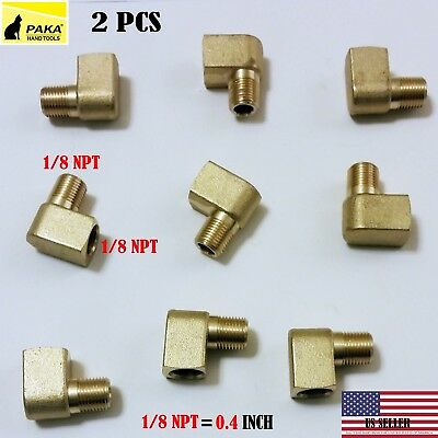 1//4 Inch NPT Female Pipe to 1//4 Inch NPT Female Brass Pipe Fitting Taisher 2pcs 90 Degree Barstock Street Elbow