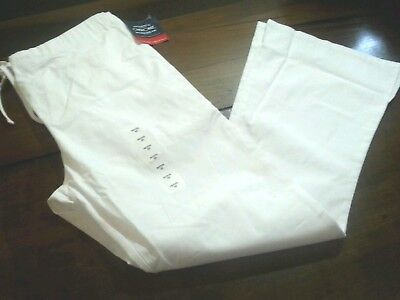Cherokee Scrub Pants Women's Size Petite X Small White New With Tags