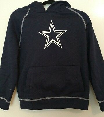 Dallas Cowboy Sports Sweater Pullover Hoodie Youth Size L 16-18 Hand Warmer Pkt