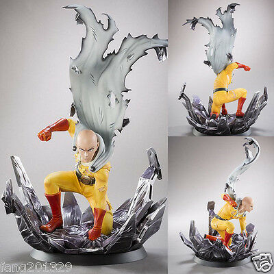 One Punch Man Saitama PVC statue figure Hero come back from the moon tsume