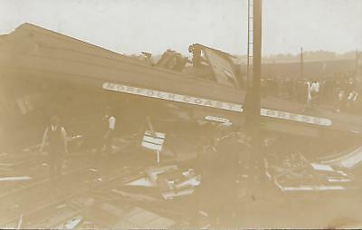 WRECK OF THE CROMER EXPRESS  WITHAM SEPT 1st 1905 B&W POSTCARD REF 88B