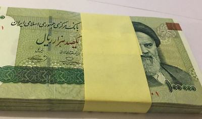 Rial 100x 100000  Rials UNCIRCULATED 10 Million Rial Currency UNC bundle