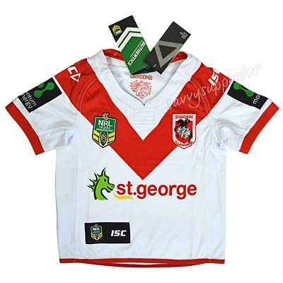 St George Dragons 2017 NRL Kids Home Jersey Sizes 6-14 BNWT