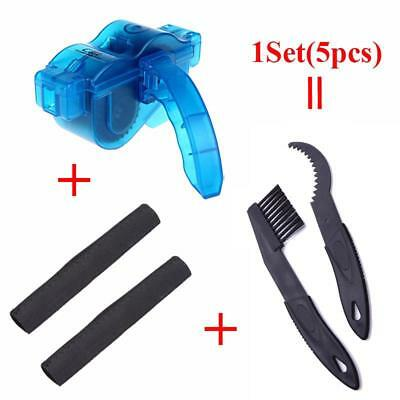 5Pcs/Set Bicycle Chain Cleaner Mountain Bike Machine Brushes Scrubber Wash Tool