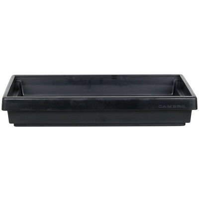 "Cambro 42"" x 24"" x 7"" Black Plastic NSF Table Top Buffet Salad / Food Bar Base"