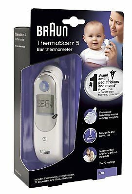 Braun ThermoScan 5/ Ear Thermometer Brand New IRT 6500 Infants Children Digital