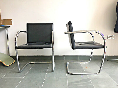 Fabulous Brno Chair Chrome Tube And Leather Mid Century Modern Style Dailytribune Chair Design For Home Dailytribuneorg