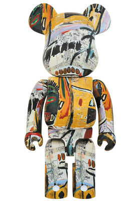 Medicom Toy 1000% Jean-Michel Basquait Bearbrick Be@rbrick