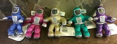 SET of 5 Intel Inside Pentium 2 Plush Stuffed  Spacemen Clean Suits EUC KEYCHAIN