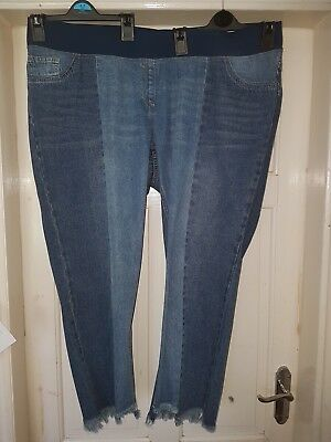 BNWOT Next Ladies Slim Slouch Cropped Maternity jeans size 20 R under bump 20R