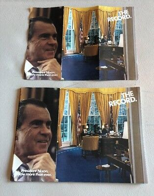"1969-1972  President Richard Nixon Now More Than Ever."" The Record"" Paper Pamfle"