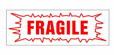 """FRAGILE RED Self Inking Rubber Stock Stamp Trodat 4912 - 3/4"""" x 1-7/8"""""""