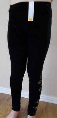 Jenetex black leggings with rhinestones - junior - FREE P&P