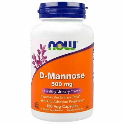 D-Mannose 500mg 120 Veg Capsules by NOW Foods - Urinary Tract Health - NEW STOCK