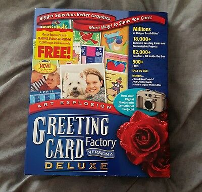 Greeting card factory version 4 greeting card making software greeting card factory deluxe version 4 m4hsunfo
