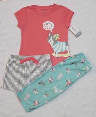 688f3503f CARTERS BABY GIRLS 3 Piece Pajamas Set NWT Size 24 Months -  9.99 ...