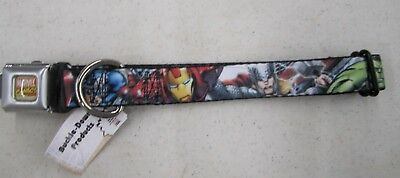 Avengers Civil War Iron Man Seat Belt Buckle Down Dog Collar Marvel Comics 0156