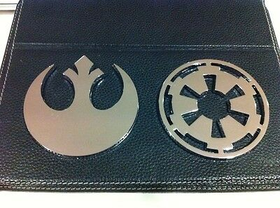 Star Wars IMPERIAL LOGO Chrome-Plated Car Emblem (sticker)