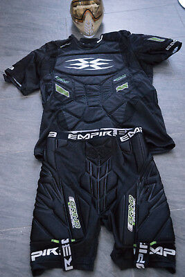 Paintball Pro Paket Dye i4 Maske, Empire Grind Brustpanzer, Shorts, Armschoner