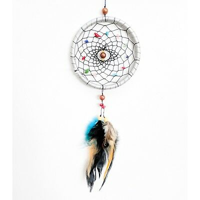 Dream Catcher silver Wall Hanging Decoration Ornament with color feathers