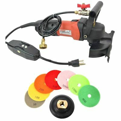 Electric Wet Granite Concrete Cement Polisher Tool Kit