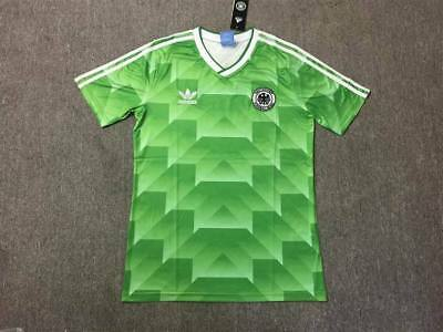 West Germany Retro Football Soccer Shirt Home 1990 World Cup Classic Away Green