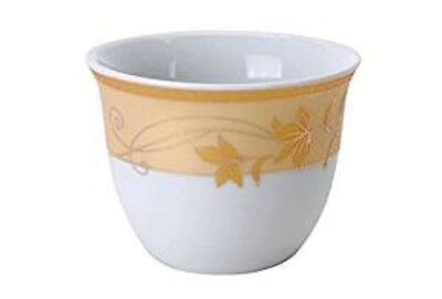 Porcelain Arabic Turkish Coffee Cups Cawa Gift Set of 12 Golden Leaves Pattern