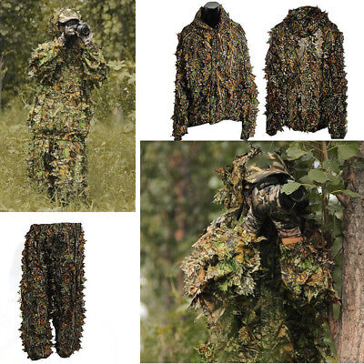 ba18fd031dd78 3D Jungle Set Leafy Ghillie Suit Hunting Camo Camouflage Clothing Leafy  Woodland