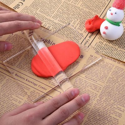 Home Rolling Fondant Pastry Clay Dough Tools Baking Acrylic Gadget Roller Pins