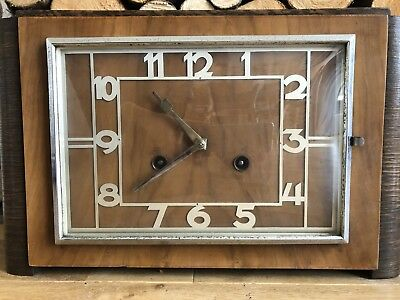 Mantle Clock antique Vintage Mid Century Art Deco Retro Shelf Table Top