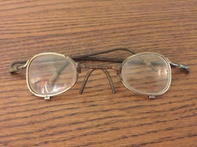 Amazing Pair HOMEMADE Antique EYE GLASSES Vintage Spectacles Steampunk Primitive