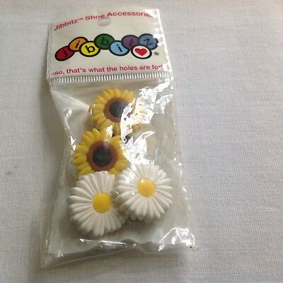 SUNFLOWER DAISY flower Authentic Jibbitz Crocs Shoe Charms Set NWT Vintage