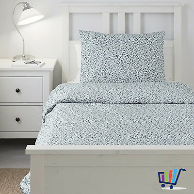 ikea vattenmynta 2 tlg lenzuola 140x200 cm bianco blu set biancheria letto eur 15 74. Black Bedroom Furniture Sets. Home Design Ideas