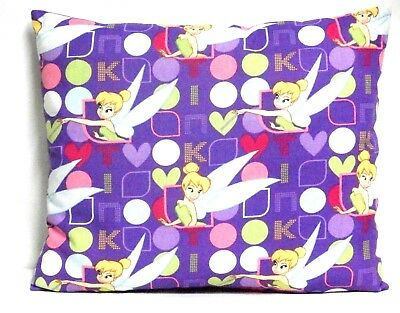 Tinkerbell Toddler Pillow on Violet Cotton TB23-4 New Handmade