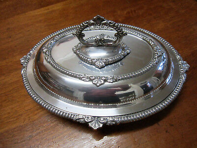 Old Victorian Antique James Dixon & Son Sheffield Silver Plate Dine Table Tureen