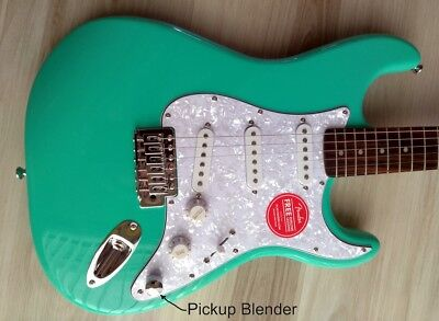 FENDER STRATOCASTER Guitar Turbo+ SSS w/ Blender MOD Seafoam Squire ...