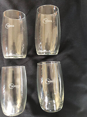 4 NWA Northwest Airlines 8 oz First Class Wine Glasses