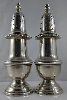 Sterling Silver Salt And Pepper Shakers Vtg 925 Not Weighted 127.8g Not Scrap