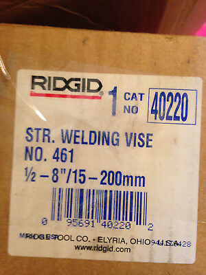 RIDGID - 461 Straight Pipe Welding Vice 200mm 40220 - RID40220