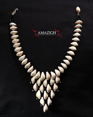 Fine Necklace - Natural Cowrie Shells - Mali