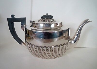 Antique Sterling Silver TEA COFFEE POT - GEORGE BURROWS ENGLAND - 384 GRAMS