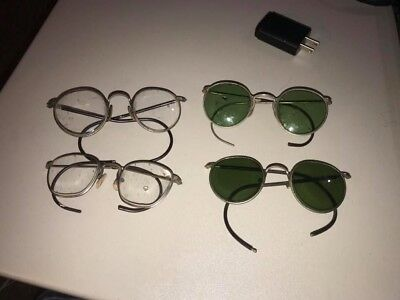 Vintage lot of 4 vintage spectacles! B&L Bausch & Lomb Ful Vue plus others!
