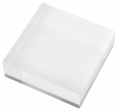 """Plymor Brand Clear Polished Acrylic Square Display Block, 1"""" H x 3"""" W x 3"""" D"""